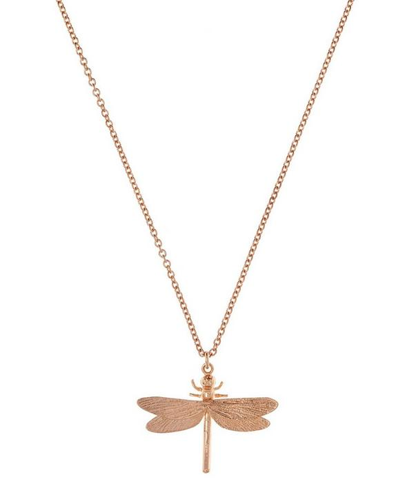Rose Gold Vermeil Dragonfly Necklace