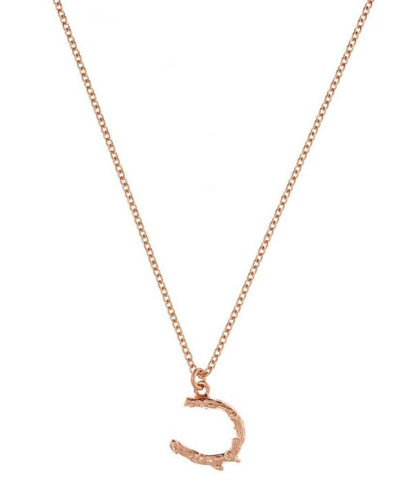 Rose Gold Vermeil Tiny Twig Horseshoe Necklace