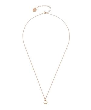 Rose Gold Vermeil Tiny Twig Horseshoe Necklace