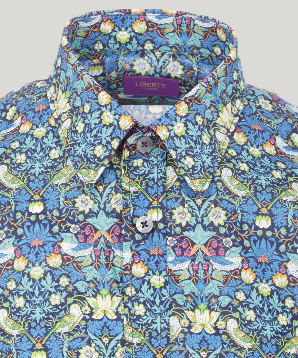 Men's Strawberry Thief Print Cotton Shirt