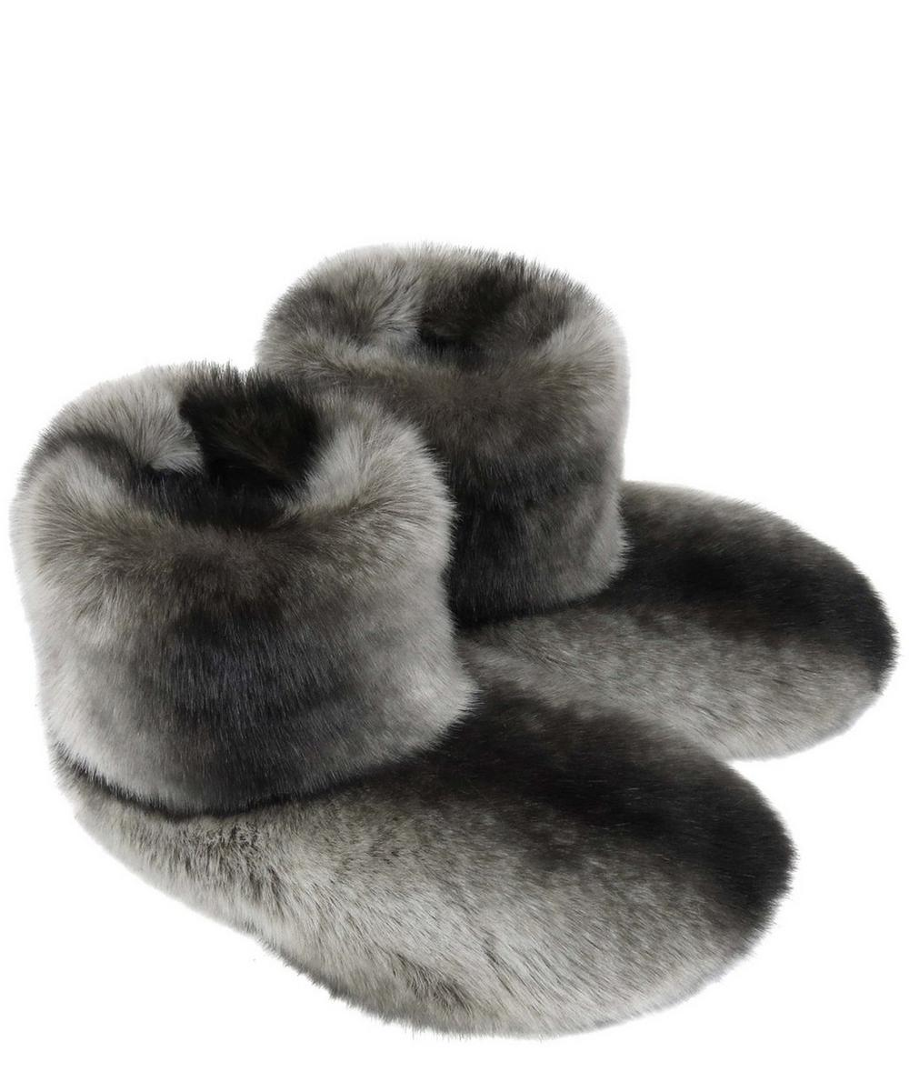 Chincilla Faux Fur Boot Slippers