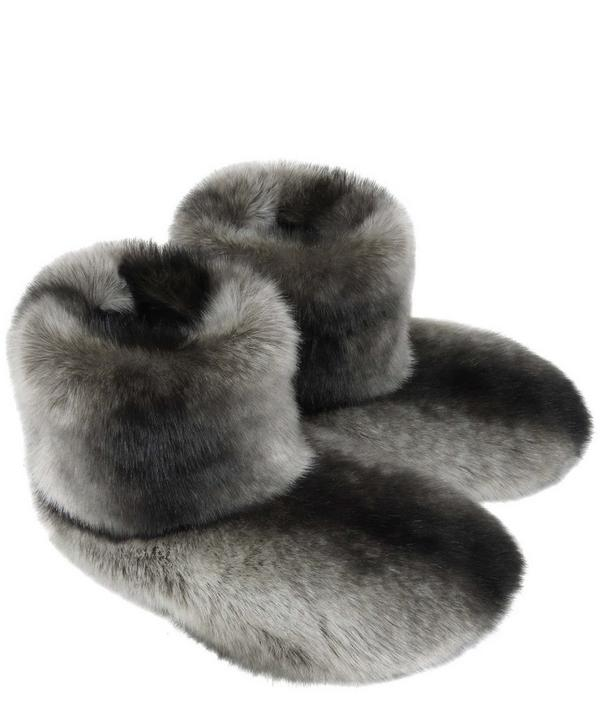 Chincilla Faux Fur Boot Slippers