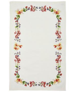 Liberty Print Bordered Cotton Tea Towel