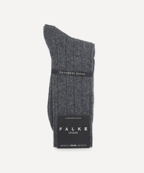Lhasa Rib Cashmere-Blend Socks
