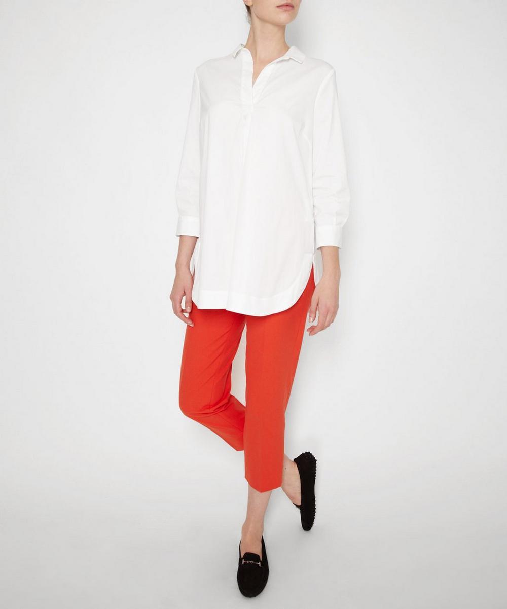 Stretch Cotton Tunic Shirt