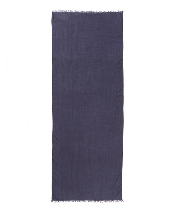 Navy Double-faced Cashmere Scarf