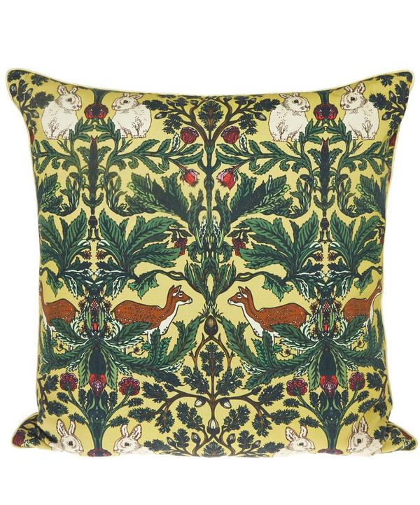 Deer Forest Silk Cushion