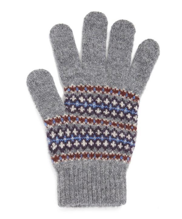 Navy Dunkeld Patterned Gloves