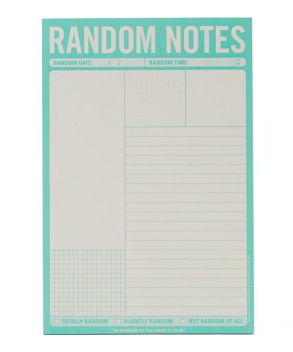 Random Notes Pad