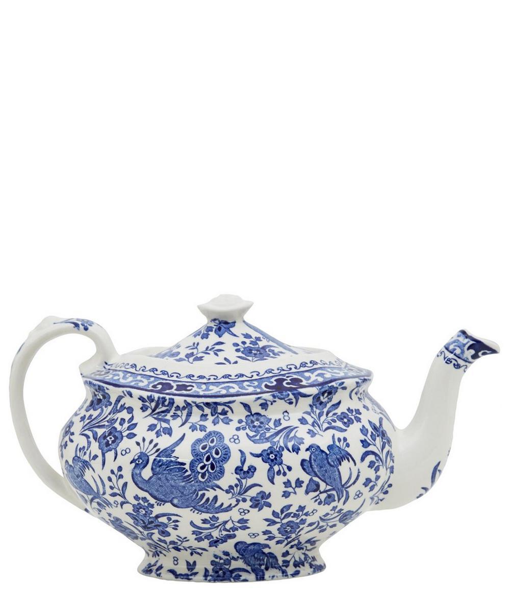 Regal Peacock Earthenware Teapot