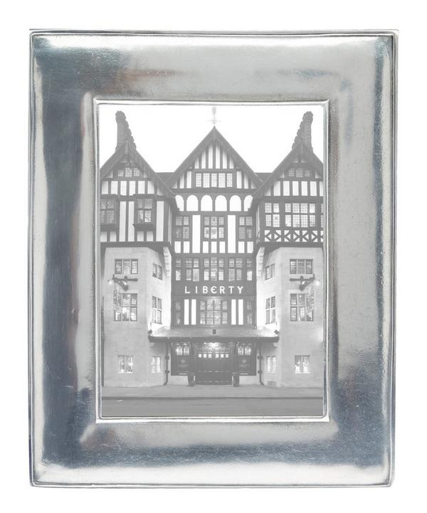 Silver-Tone Siena 5 x 7 Pewter Photo Frame
