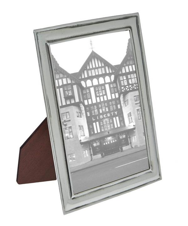 Silver-Tone Florentine 5 x 7 Pewter Photo Frame