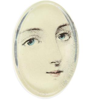 Portrait Glass Oval Paperweight