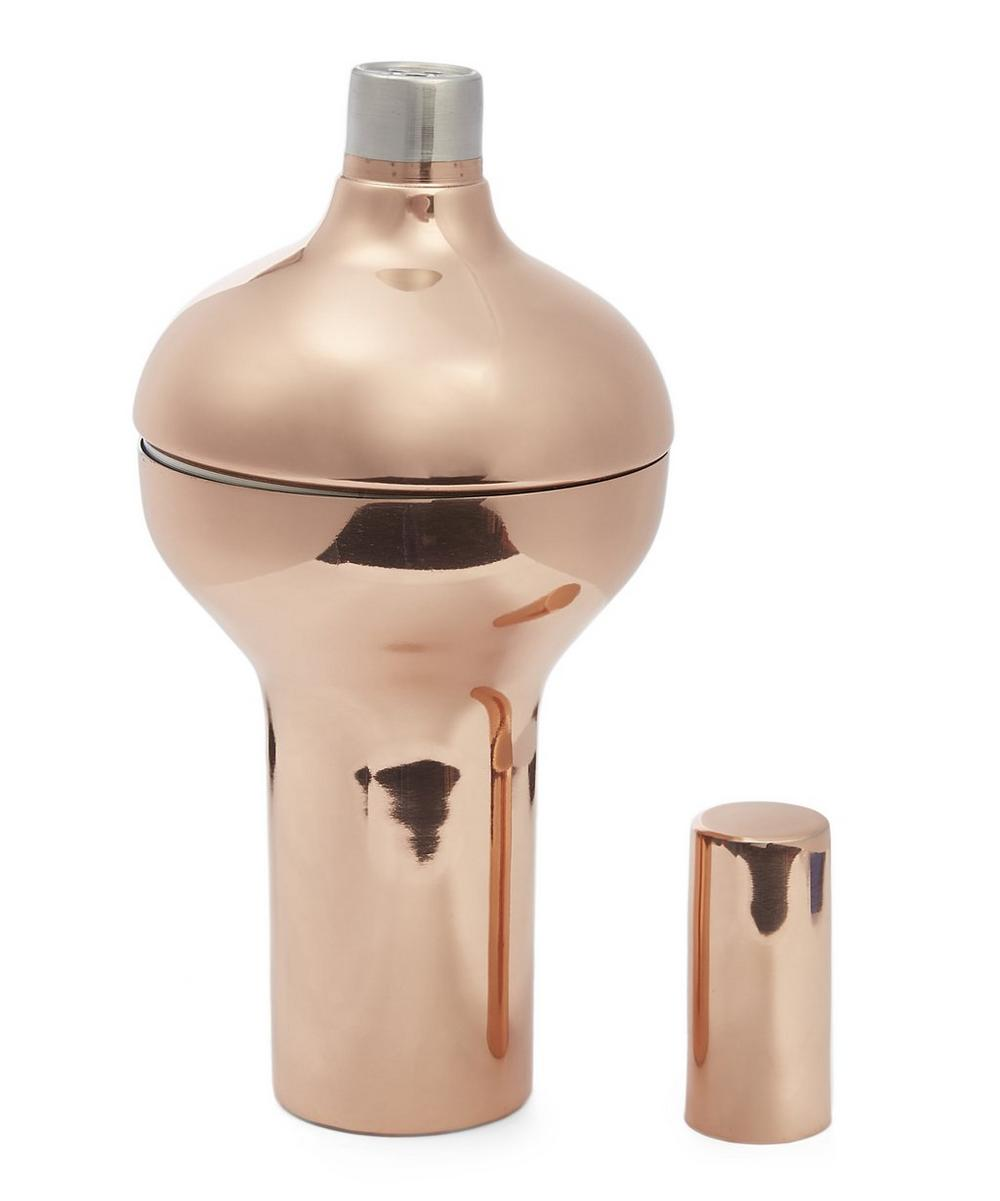 Copper-Plated Plum Cocktail Shaker