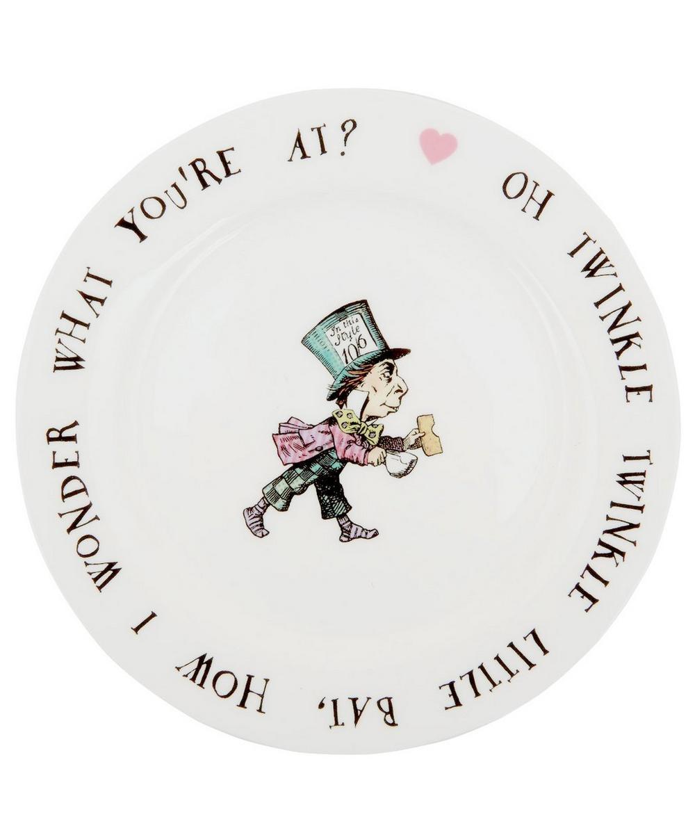 Mad Hatter Bone China Tea Plate