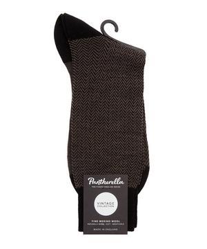 Finsbury Herringbone Merino Blend Socks
