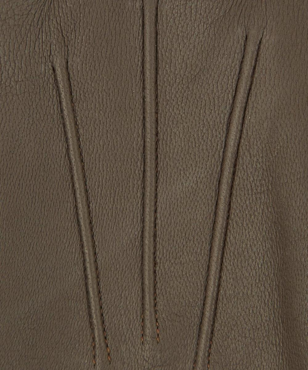 Cashmere Lined Plain Leather Gloves
