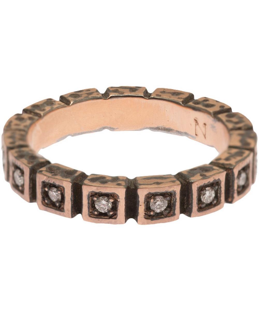Rose Gold Diamond Squares Ring