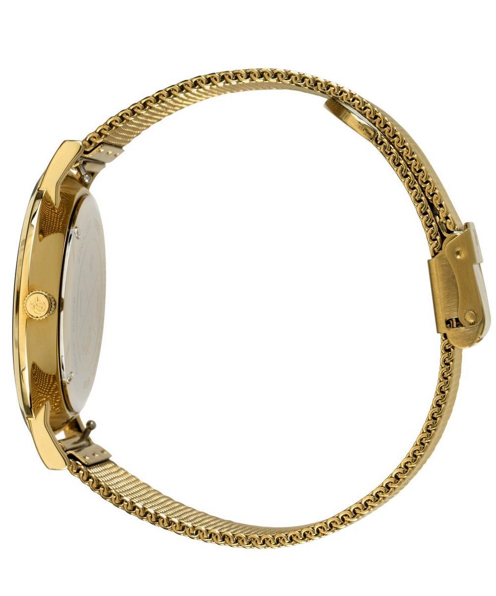 Lugano 40mm Gold-White Milanese Watch