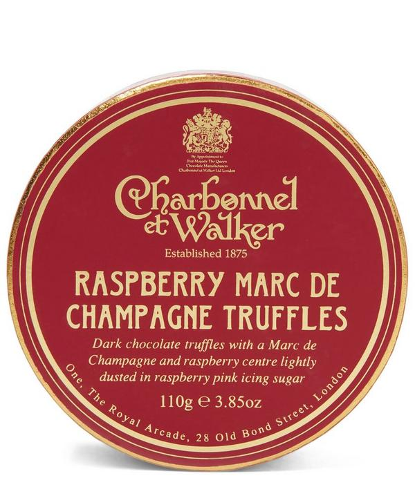 Raspberry Marc de Champagne Truffles