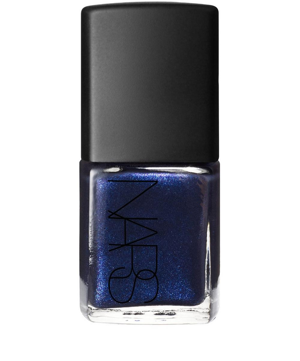 Nail Polish in Night Flight Pearl Blue