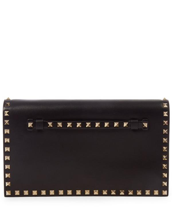 Red Rockstud Clutch Bag