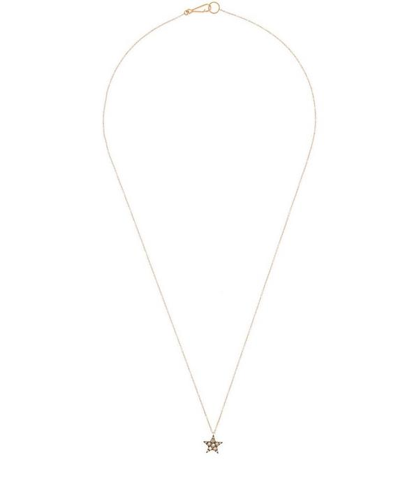 Rose Gold Love Diamonds Star Pendant Necklace