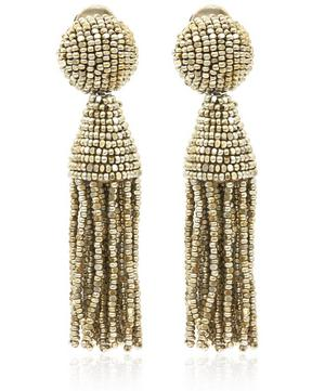Short Tassel Clip-On Earrings