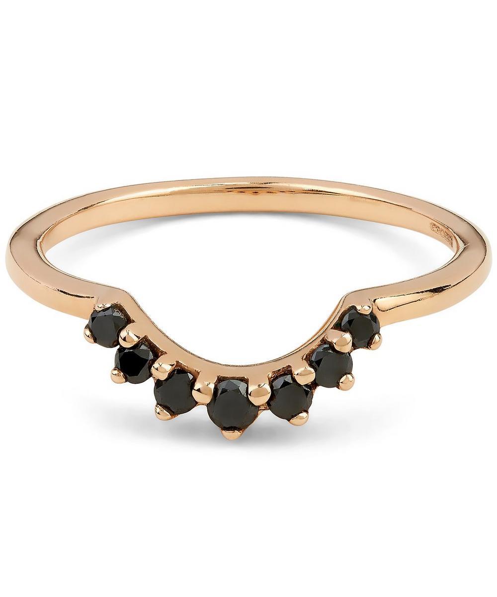Rose Gold Black Diamond Grand Tiara Ring