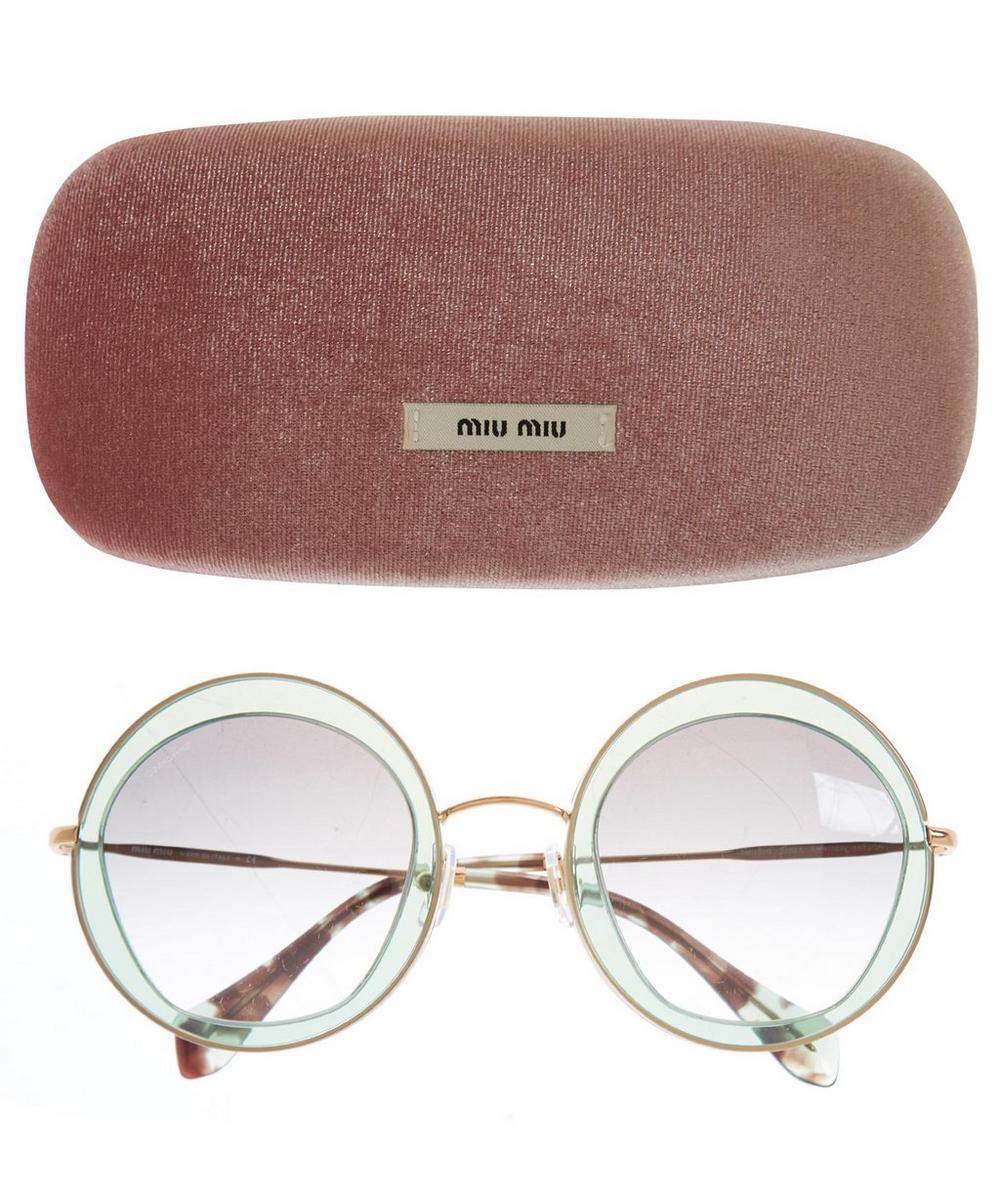 Translucent Oversize Round Sunglasses