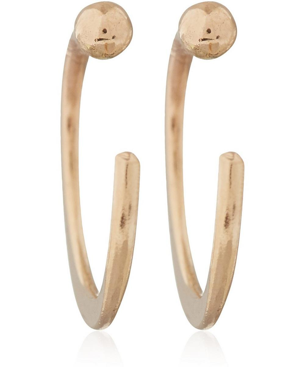 Small Gold Hug Hoops