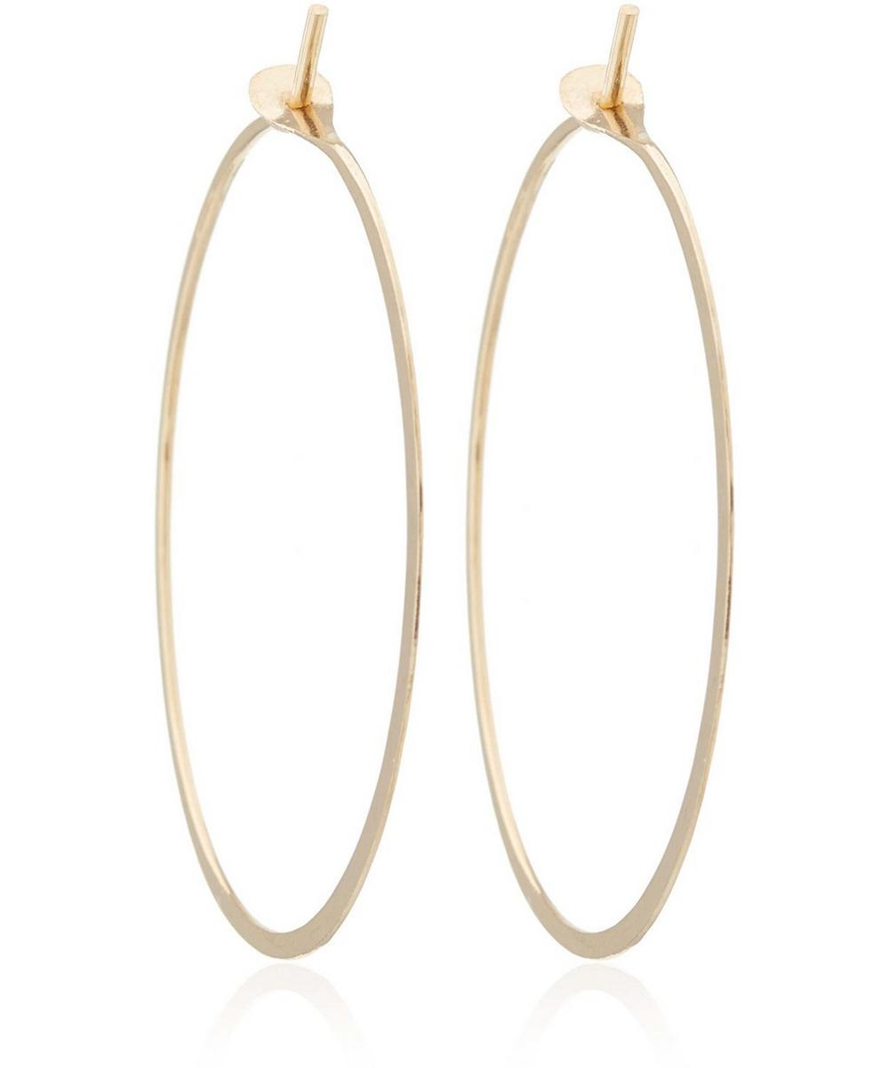 Extra Large Gold Flat Forged Hoops