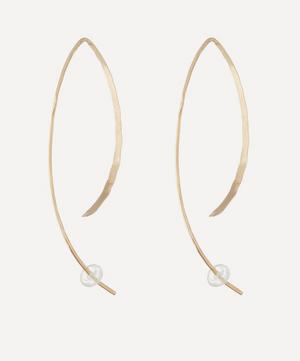 Large Gold Wishbone Earrings