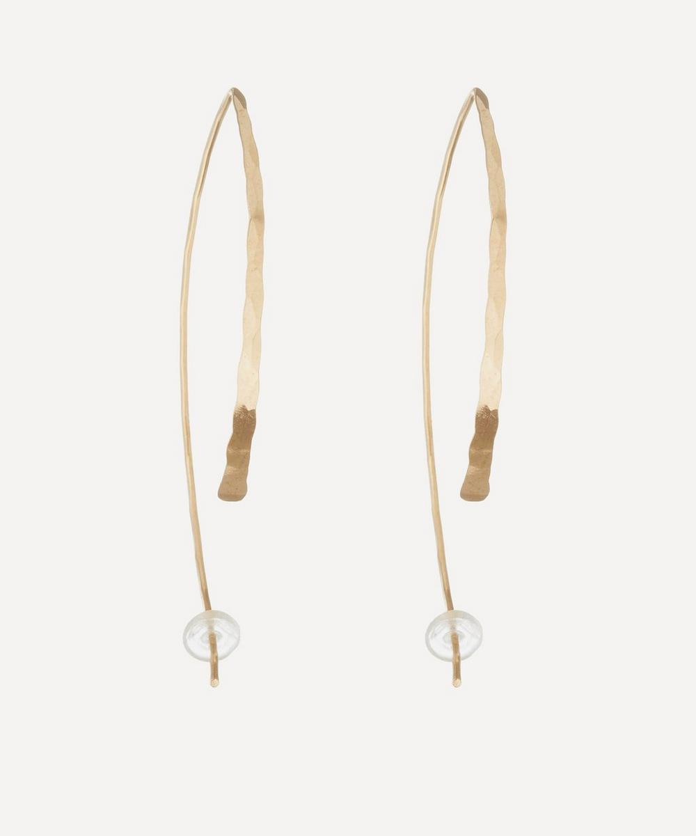 Large Gold Wishbone Earrings