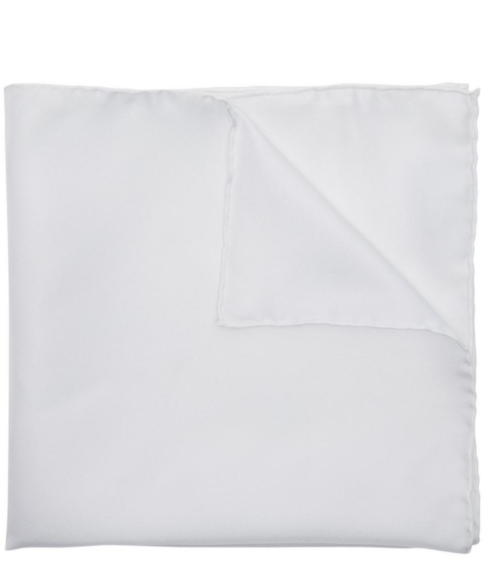 Plain Silk Pocket Square