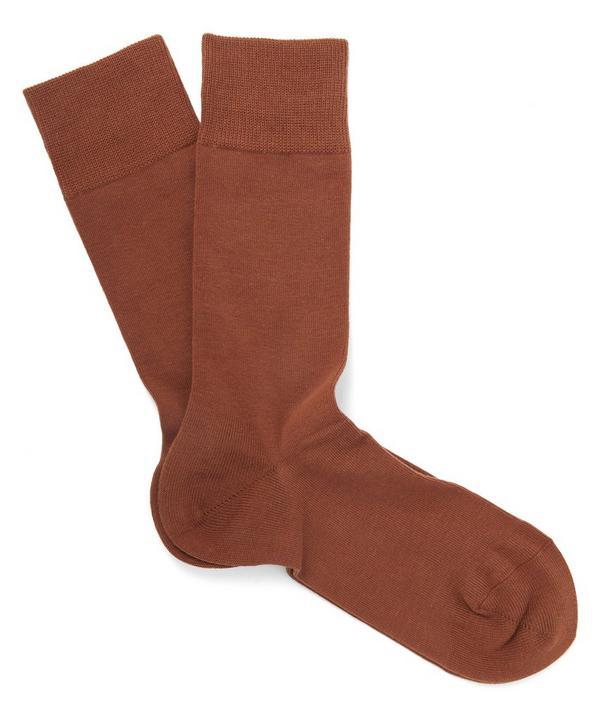 Light Blue Family Stretch-cotton Socks