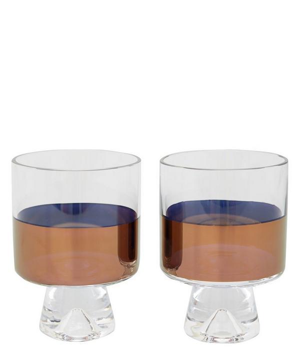 Copper Low Ball Glass Set