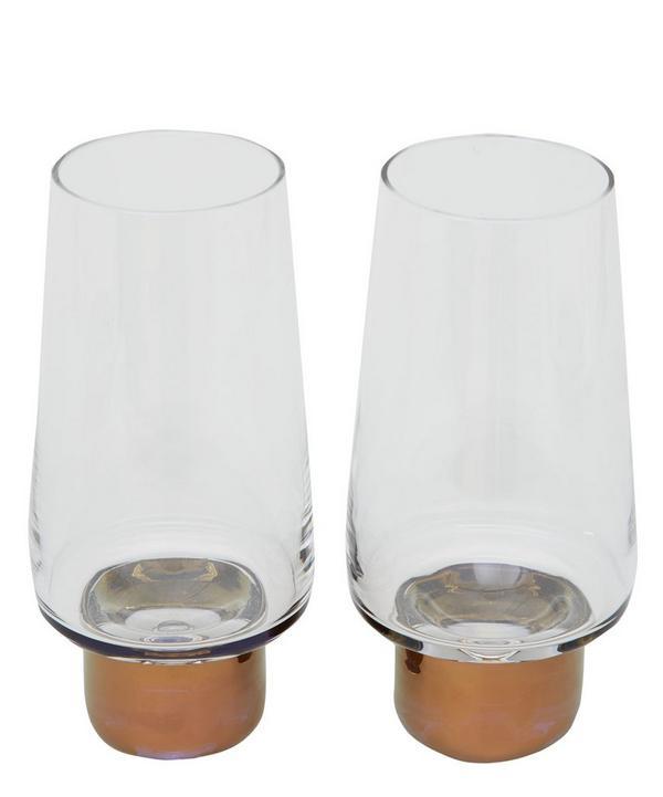 Copper Tank High Ball Glass Set