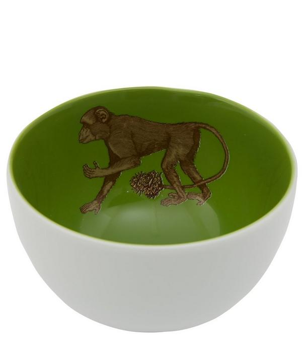 Monkey Porcelain Bowl