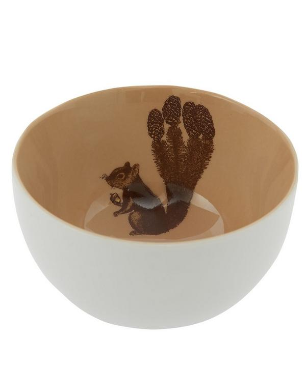Squirrel Porcelain Bowl