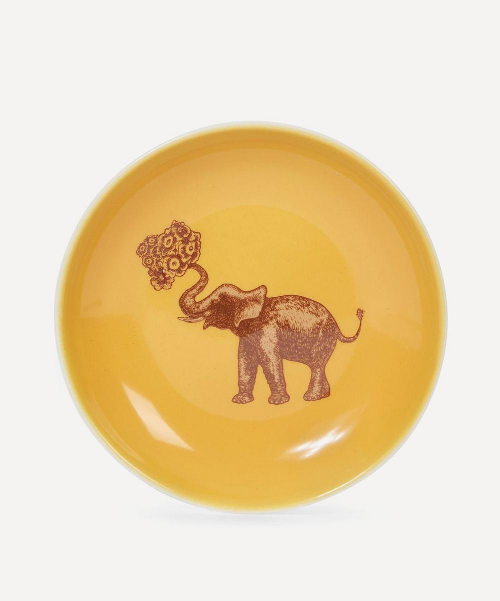Small Elephant Porcelain Plate