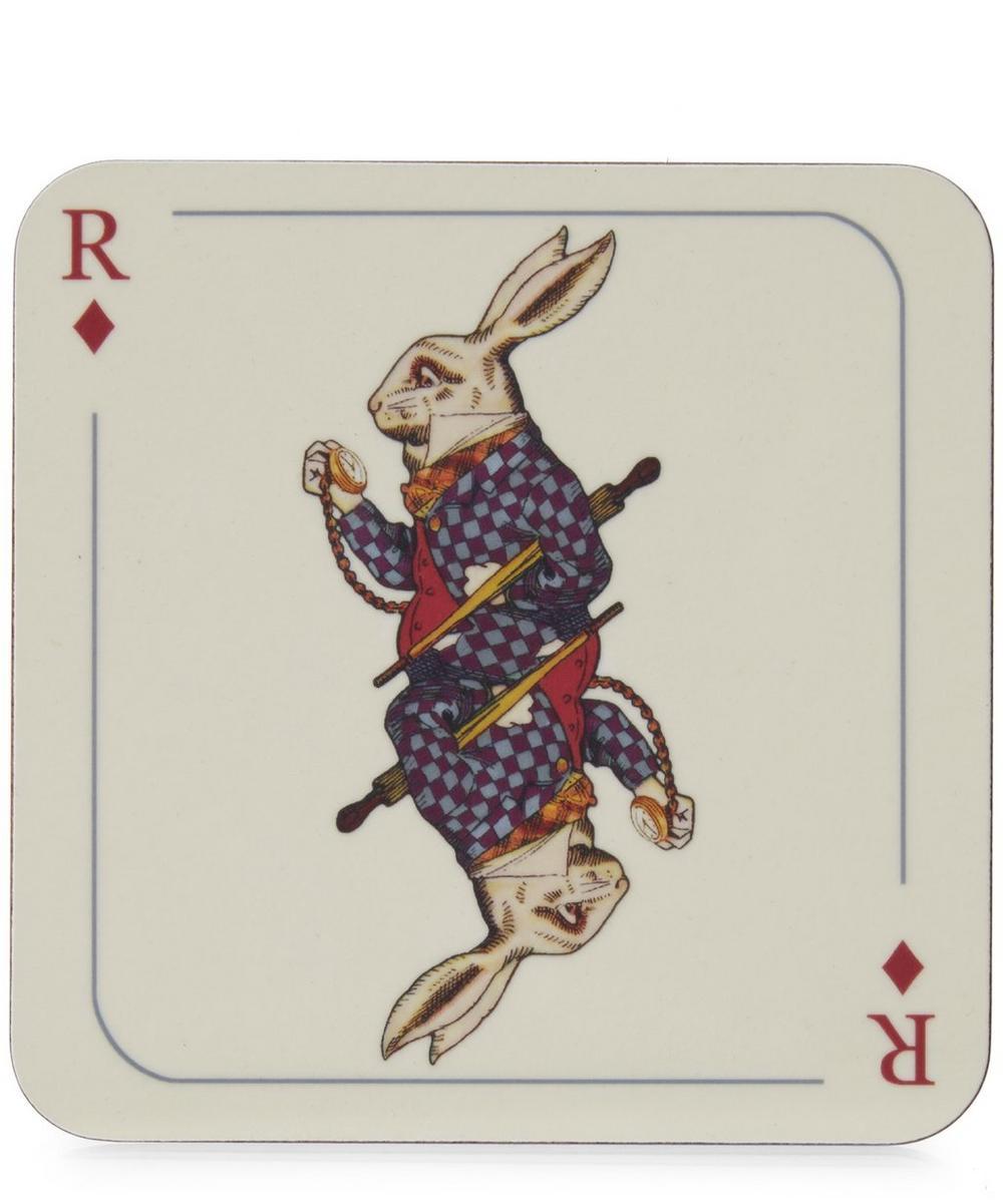 Rabbit Print Melamine Coaster