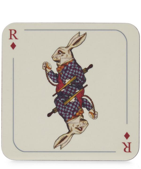 Rabbit Print Melamine Coaster