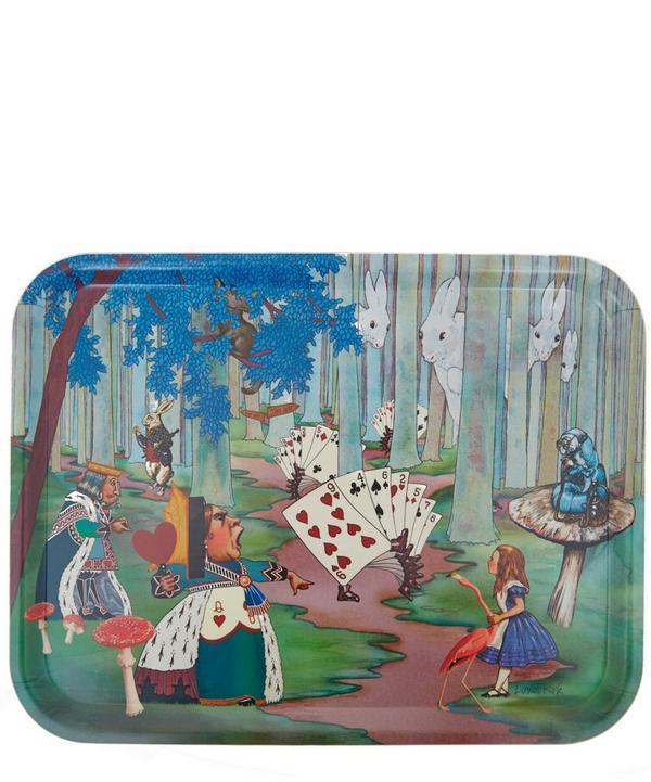 Alice Lost in the Woods Birchwood Tray