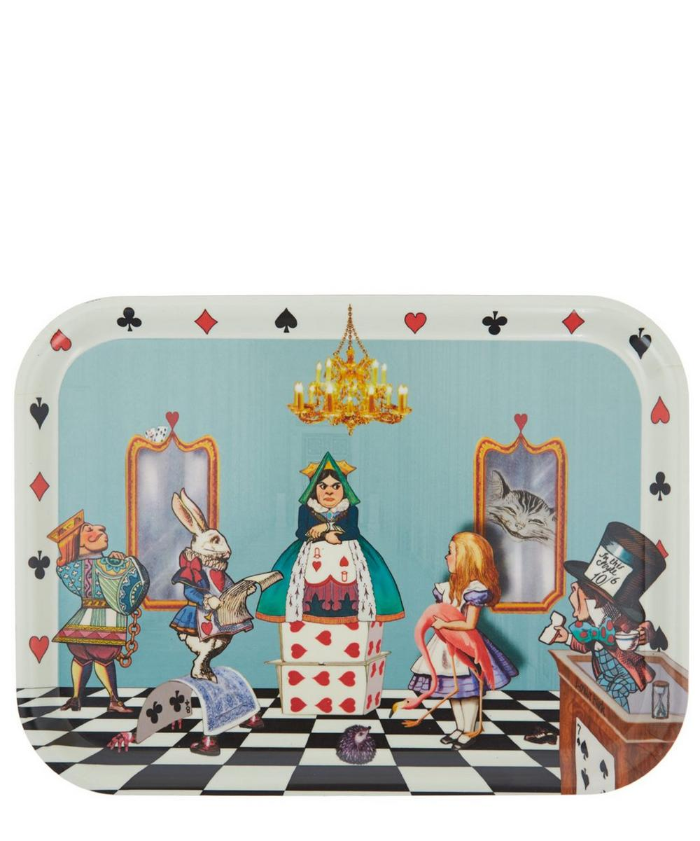 Alice in the Court of Hearts Birchwood Tray