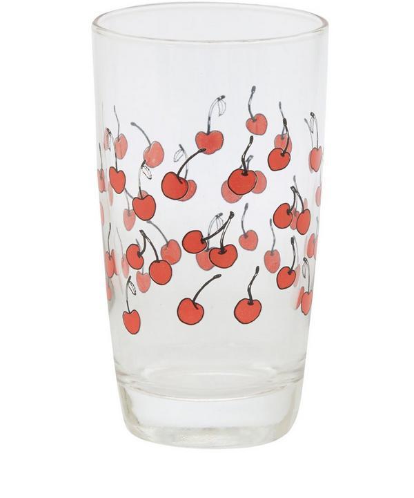 Cherries Juice Glass