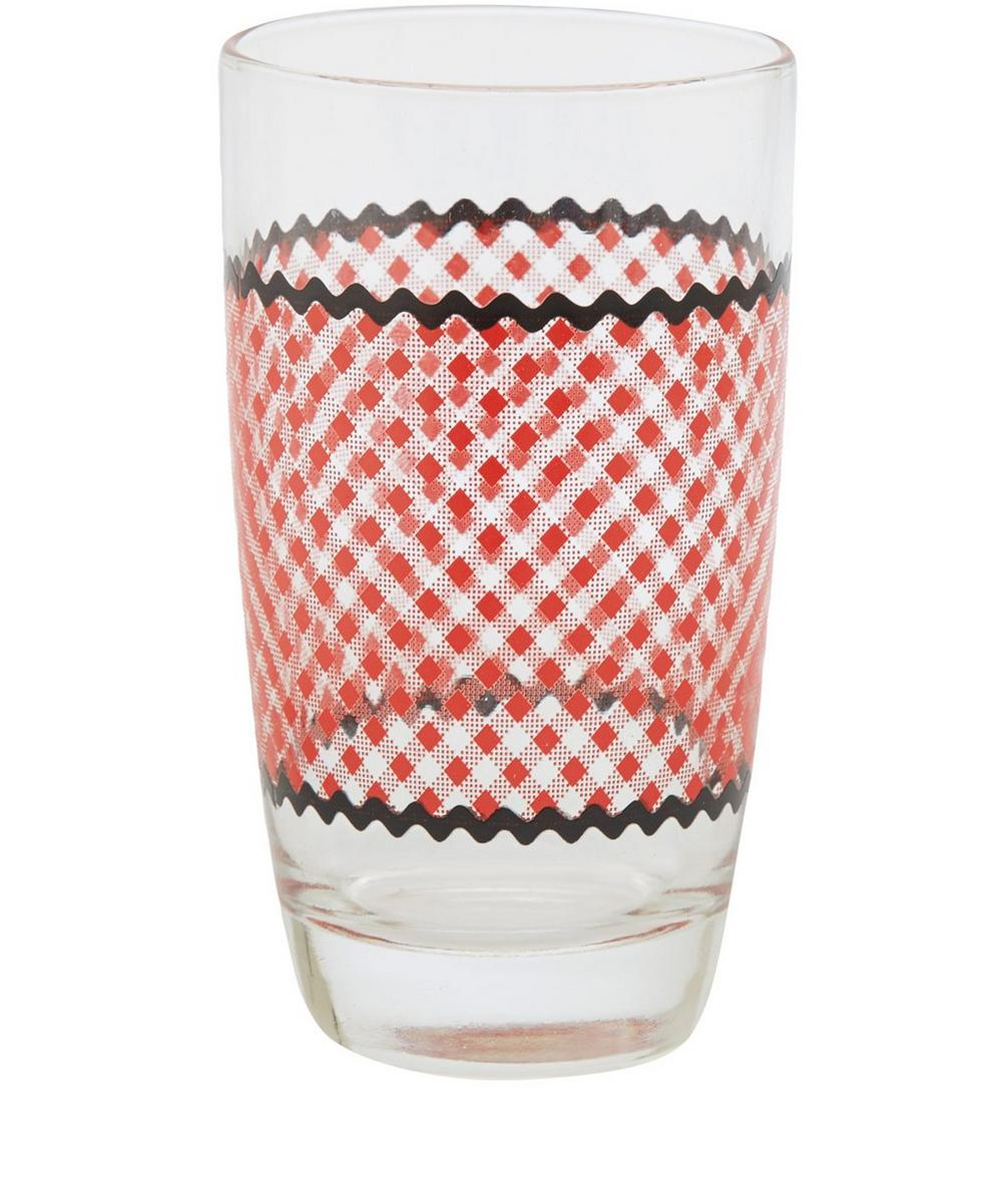 Gingham Juice Glass