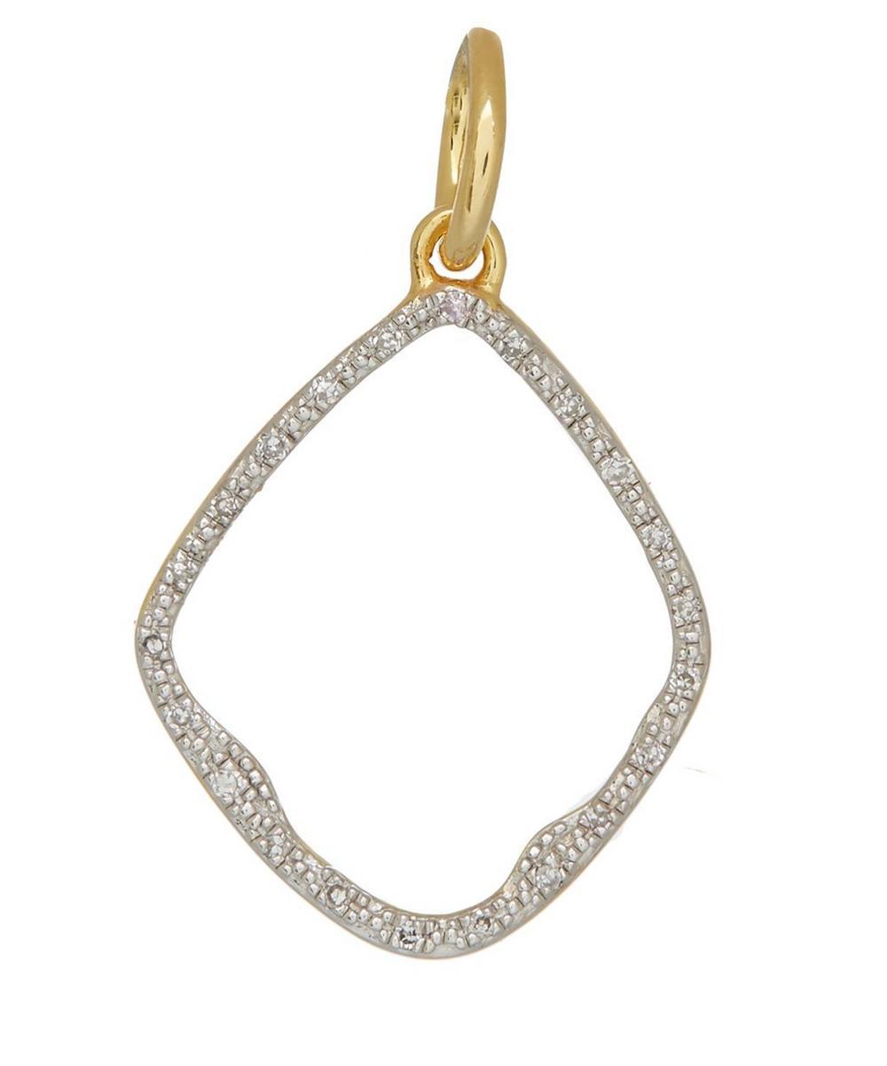 Gold Vermeil Diamond Riva Hoop Pendant