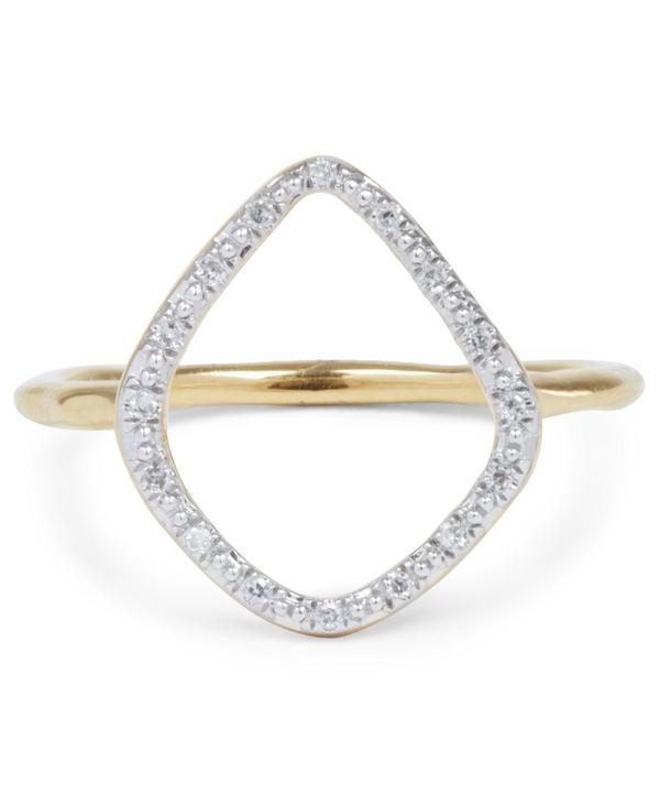 Gold Vermeil Diamond Riva Hoop Ring