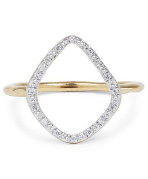 Gold Vermeil Diamond Riva Hoop Ring